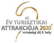 Év Turisztikai Attrakciója Minőségi Díj 2. helyezett